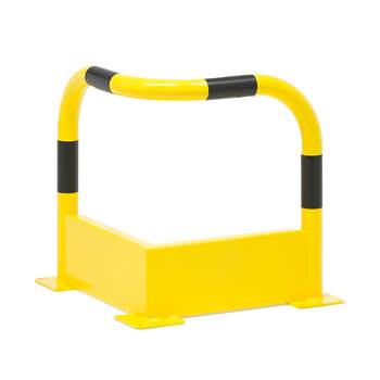 Pipe protector, corner, 500x500 mm, yellow-black