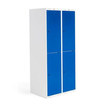 Roz student locker, 2 modules, 4 doors, 1740x800x550 mm, blue