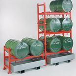 Drum racking system: pallet unit