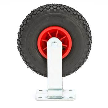 #en Fixed wheel, 260x85 mm pneumatic rubber, 100kg
