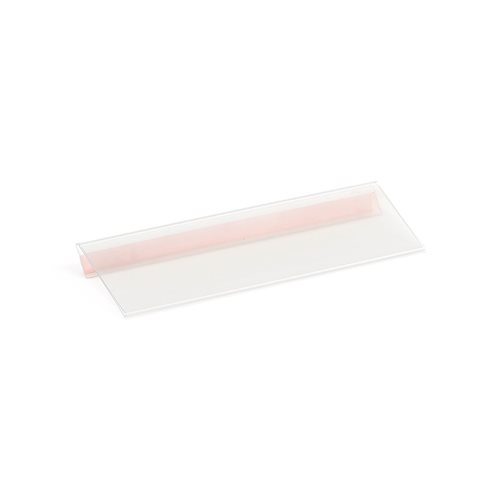 Shelving label holder: 210x60 mm