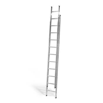 Extending ladder, 2x11 treads, H 3300-6000 mm