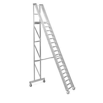 Arbetstrappa, 18 steg, höjd: 3600 mm