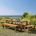 Pine outdoor table & bench range