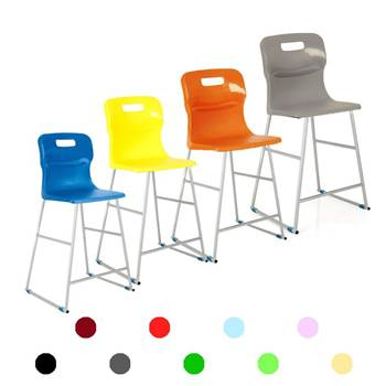 High plastic chairs