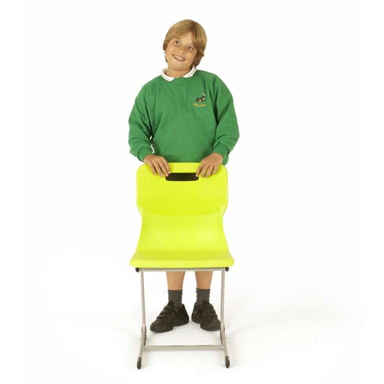 Plastic reverse cantilever chair