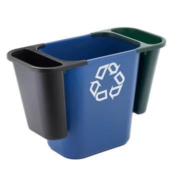 Recycling saddle bin system