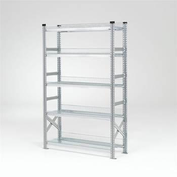 Galvanised storage shelving