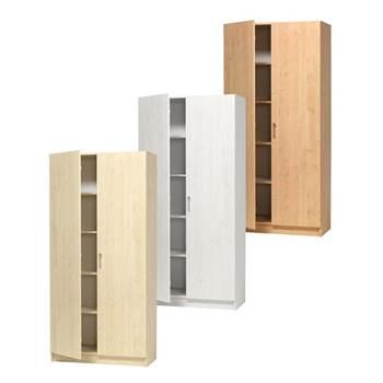 Materialskåp med hela dörrar