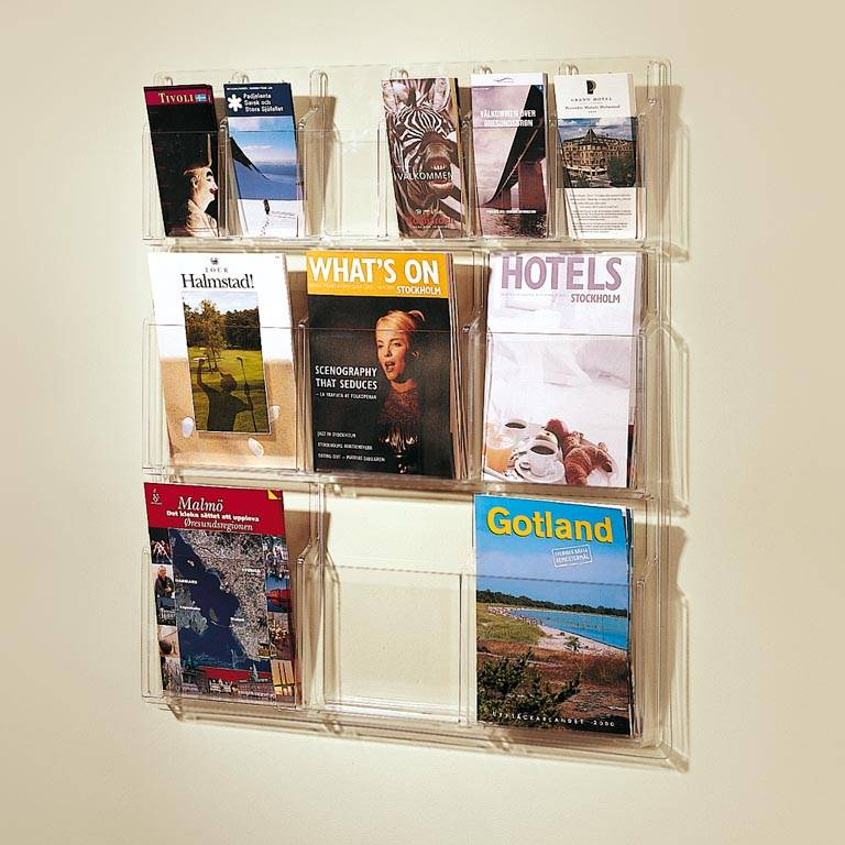 Exclusive magazine and brochure rack
