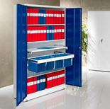 Colour storage cabinet