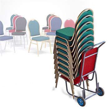 Package deal: 8 restaurant chairs + trolley