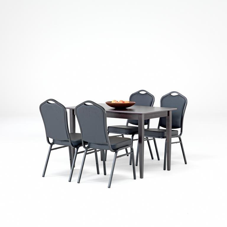 Zestaw do jadalni: 1 stół wenge + 4 krzesła