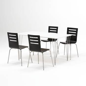 Canteen package deal: table + 4 or 6 Milla chairs