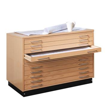 Complete drawing cabinet: 2 drawer units