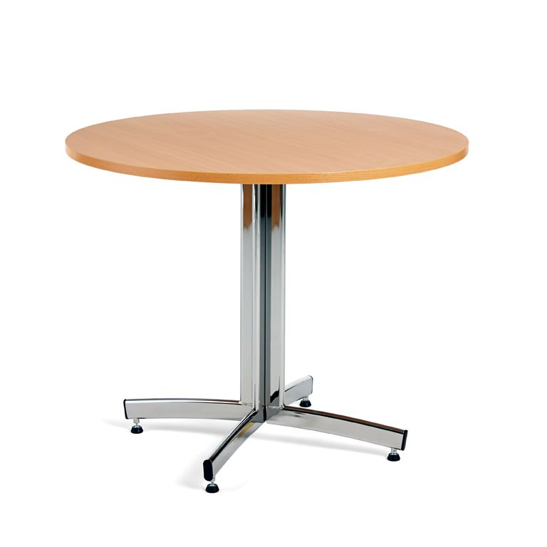 Round canteen tables
