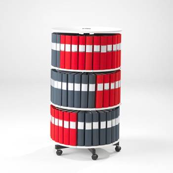 Rotary binder case: 3 shelves