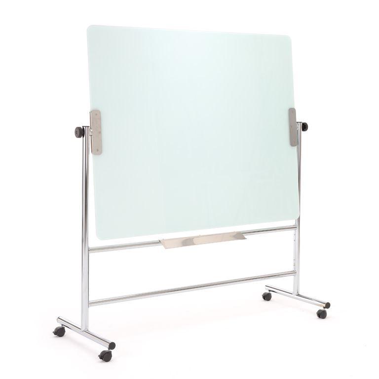 Revolving glass writing board