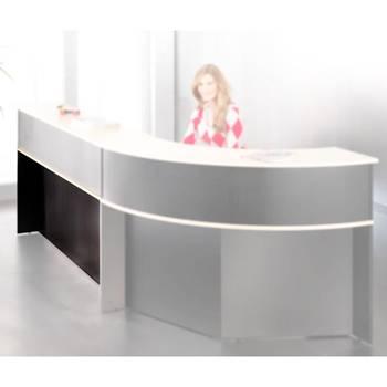 Straight desk unit