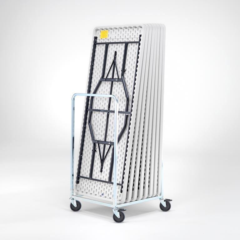 8 folding tables + trolley