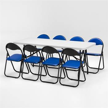 Package deal: 1 x table (L1830mm) + 8 x chairs