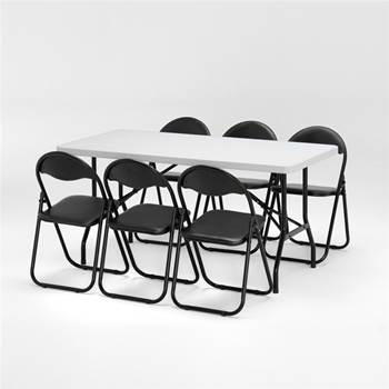 Package deal: 1 x table (L1530mm) + 6 x chairs