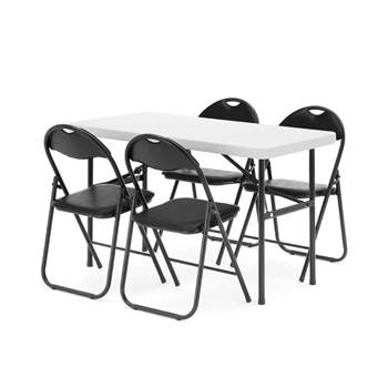 Package deal: 1 x table (L1220mm) + 4 x chairs