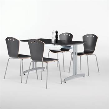Pakkepris Spiseromsgruppe: Bord + 4 stoler