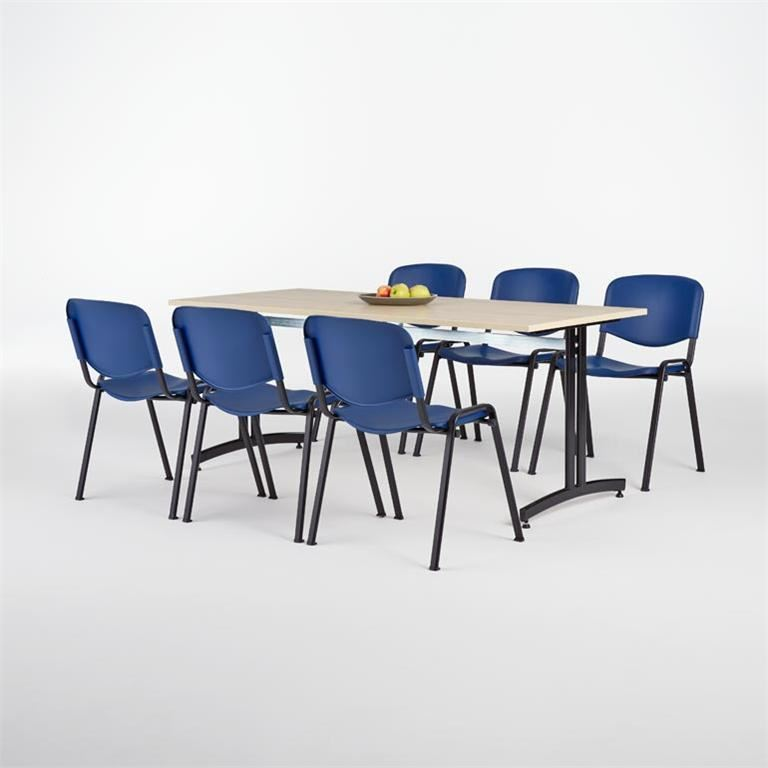 Canteen package deal: table + 6 chairs