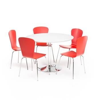 Lunchrumsgrupp med fem stolar