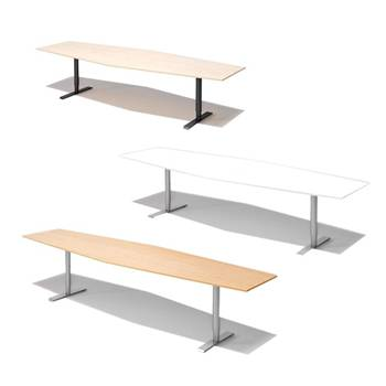 Height adjustable conference tables