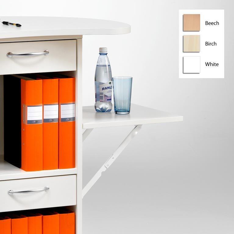Foldable flap shelf