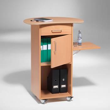 Mobilny pulpit z szafką i półką