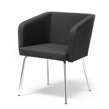 Conference chair with straight legs