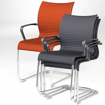 """Sienna"" conference chair with arm rests"