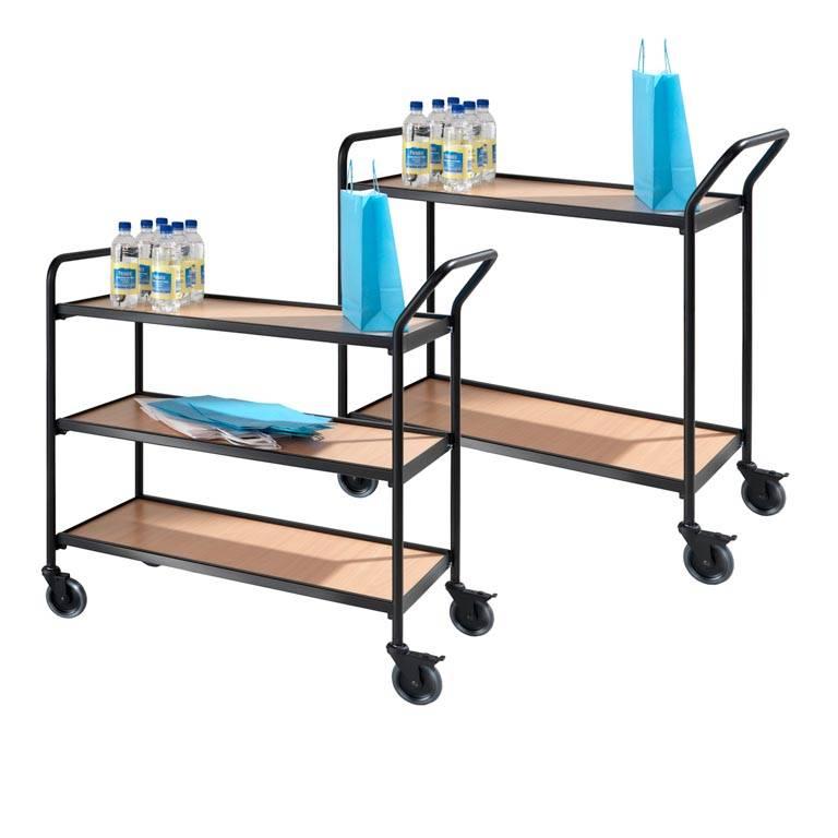 Wózek biurowy z metalową ramą