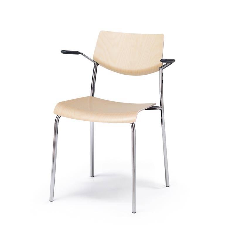Stylowe sztaplowalne krzesło