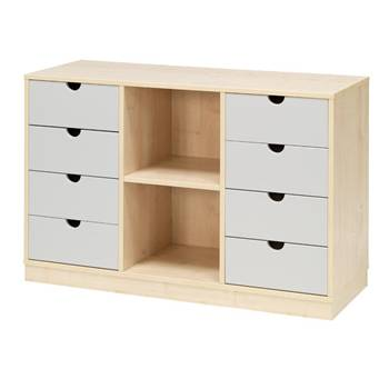 Combination student storage 3:9, beech