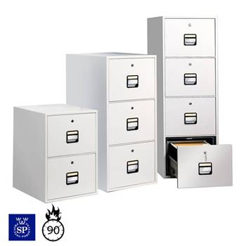 Fireproof filing cabinets: A4/foolscap
