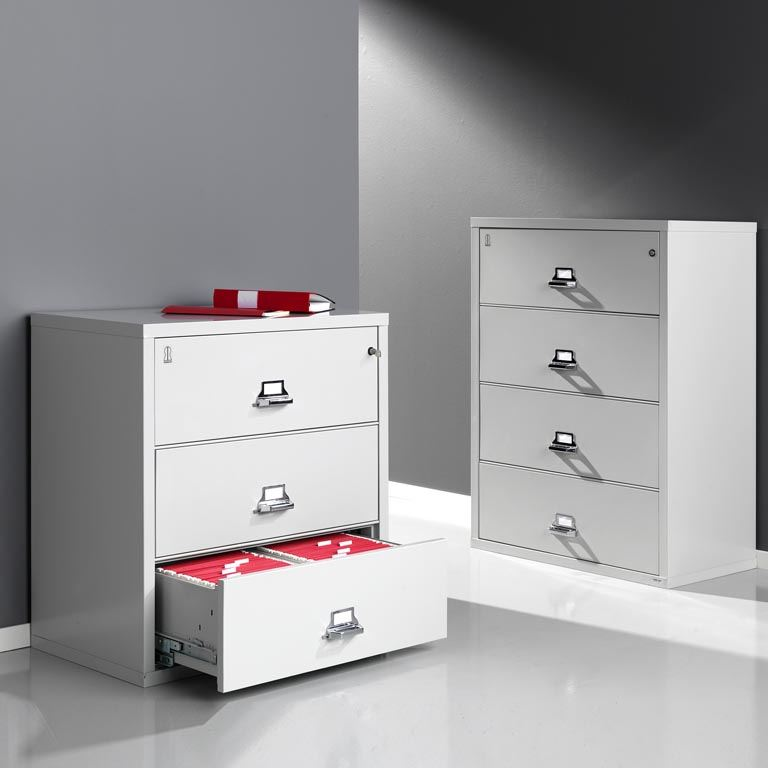 Lateral fireproof filing cabinets: A4