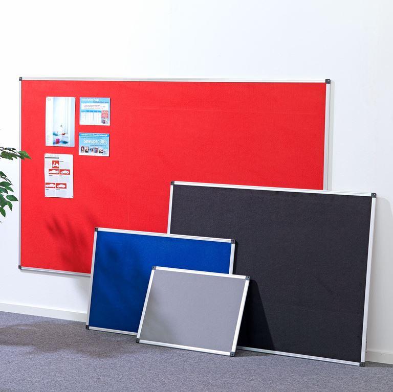 Notice boards with aluminium frame