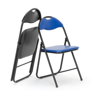 Folding chair: black