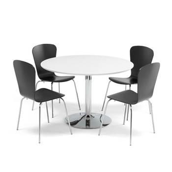 Lunchrumsgrupp 1 bord och 4 stolar