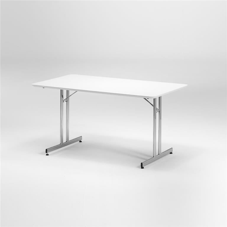 White fold down table: L1400mm: alu