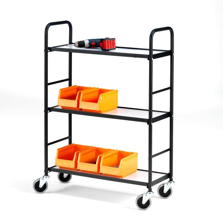 Narrow aisle shelf trolley: 275 x 730mm