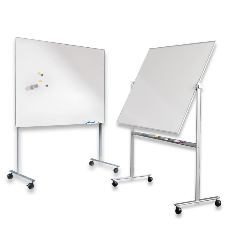 Whiteboard med golvstativ