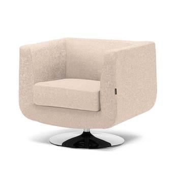 Fotel obrotowy z chromowaną podstawą