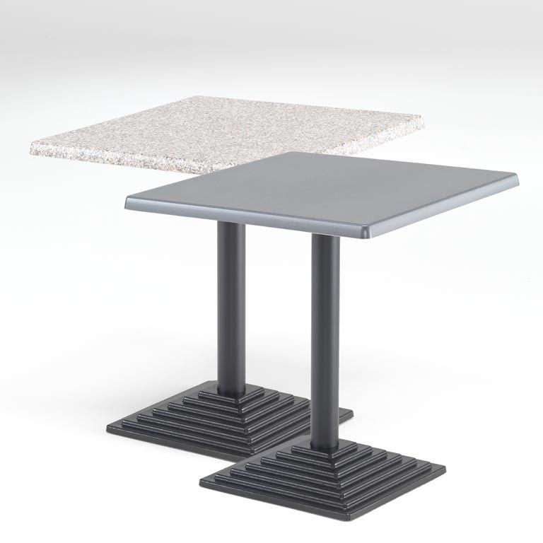 Square café tables