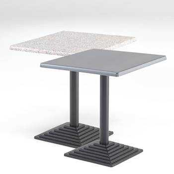 Cafébord med Topalitskiva, Fyrkantigt
