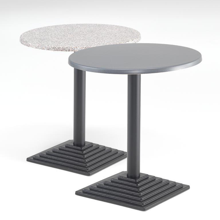 Kafébord med Topalitplate, Rundt